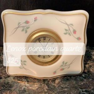 Lenox porcelain clock